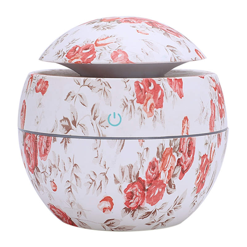 NMT-061 New USB Rose Air Humidifier Essential Oil Aroma Diffuser Ultrasonic Cool Mist Maker Air Purifier Valentine's Day Gift