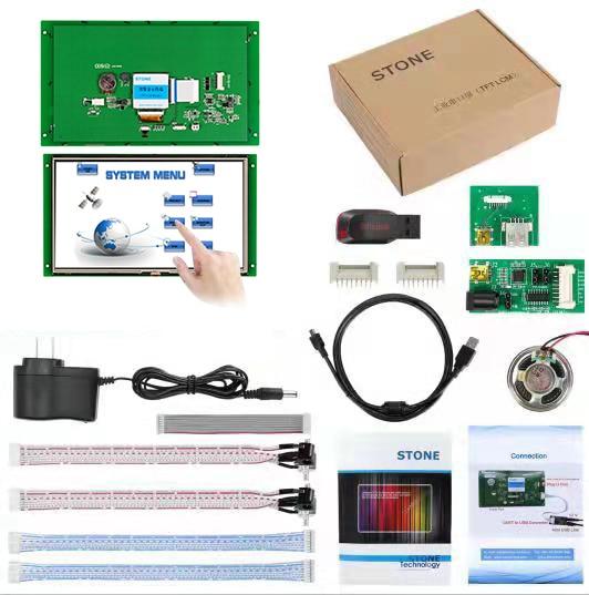 10,1 дюймовый HMI TFT ЖК-дисплей модуль с контроллером + программа + сенсорный монитор + UART последовательный интерфейс