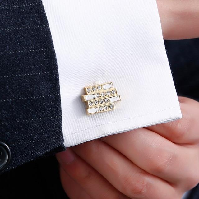 High-end Luxury Men's French  Crystal Cufflinks  5