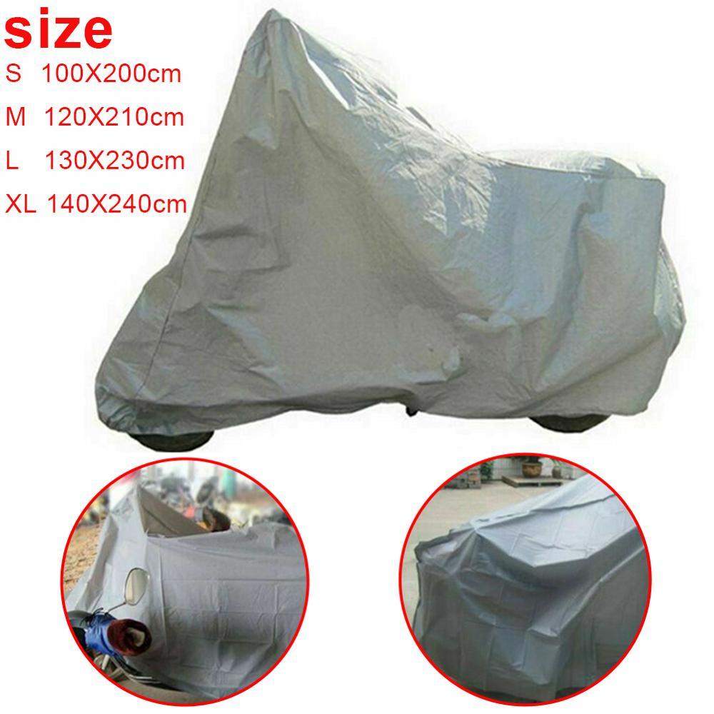 Motorcycle Waterproof Dust Proof UV Cover Snow Rain Protector 4 Sizes S/M/L/XL For Indoor Outdoor Motors Scooter Bike Covers
