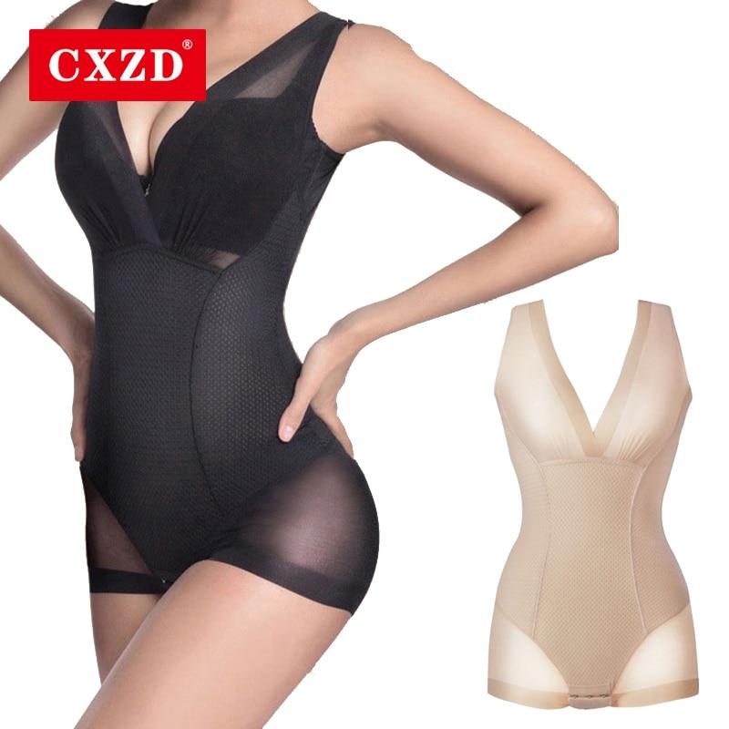 Женское корректирующее белье CXZD, женское моделирующее белье с нижним бюстом, боди, комбинезон-0