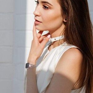 Image 5 - OULUCCI מתכת שעון צמיד רצועת צמיד עבור Fitbit versa 2 להקת צמיד להקת אביזרי עבור fitbit versa2 רצועת נשים