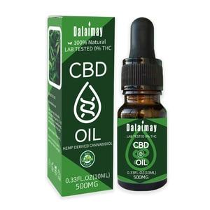 Масло cbd для облегчения стресса, пеньковое эфирное масло без thc, 5 мл, натуральное масло для сна cbd, 100% антистресс для боли