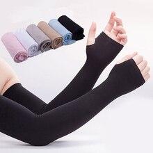 Ice Silk Sleeve Sunscreen Cuff Arm Sleeves Uv Sun Protect Anti-Slip Summer Men Women Gloves Outdoor Riding New