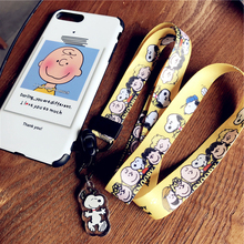 Long anime cute cartoon pendant neckline lanyard key certificate gym mobile phone with USB badge clip DIY
