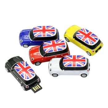 Mini Cooper Pen Drive U Disk 4GB 8GB 16GB 32GB 64GB USB Cute Mini Car USB Flash Drive PenDrive USB Stick USB Drive U Disk цена 2017