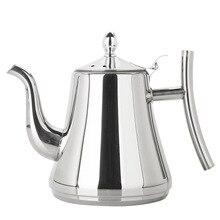 Чайник, модный чайник золотистого и серебристого цвета с фильтром, отельный чайник, 304 нержавеющая сталь, чайник для воды