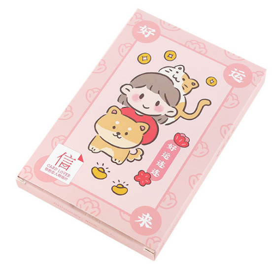 P129- Good Luck Paper Postcard(1pack=30pieces)