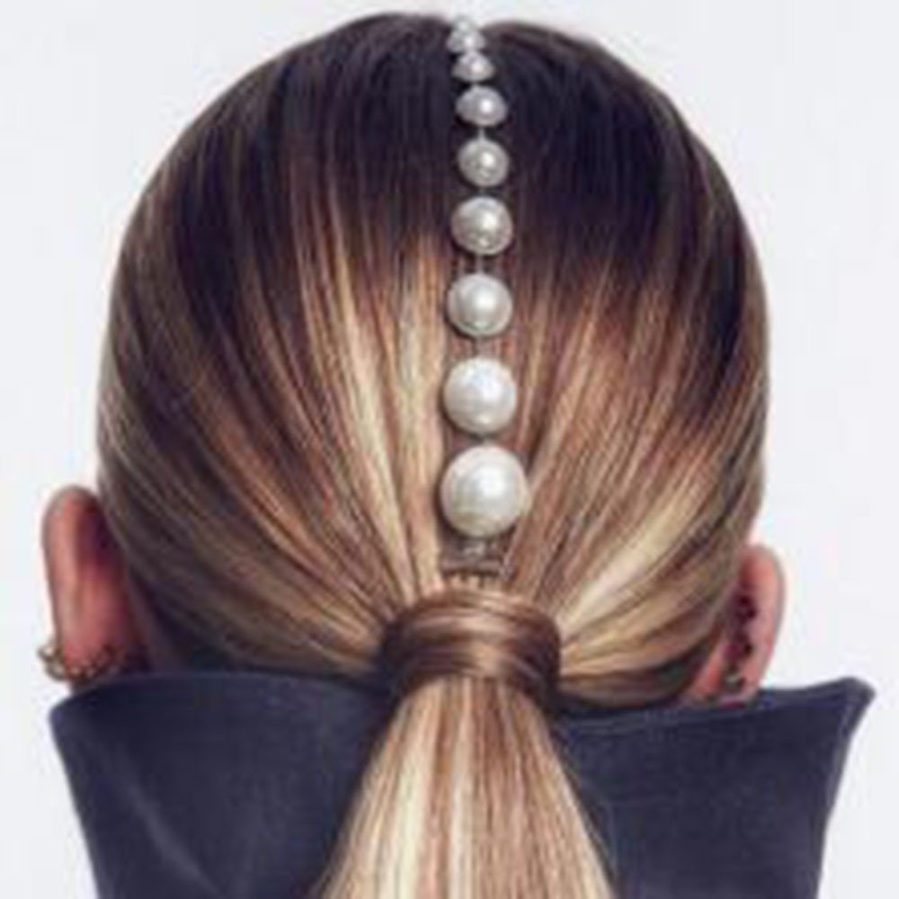 2020 Fashion 1pc Hair Clip Pearl Bead Tassel Chain Hair Clips For Women Girls Barrette Haar Accessories Gold Silver Jewelry Gift