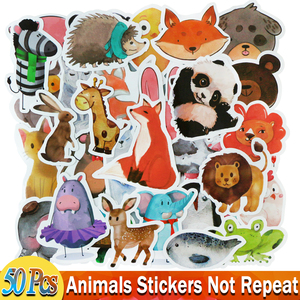 25 / 50 PCS Mix Styles Cute Watercolor Animal Sticker Neon Light Warnings DIY Funny Stickers for Laptop Car Luggage Bike Toys(China)