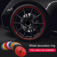 8 Meter Roll Car Styling Moulding Tire Sticker IPA Rim blades Decor Strip Wheel Protector Guard Auto Covers