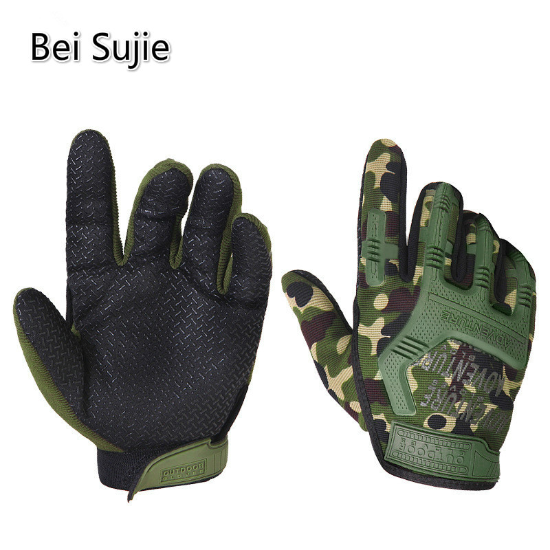 Bei Sujie Army Fans Training Climbing Wear-resistant Tactical Combat Gloves Men Outdoor Shooting Cycling Full Finger Gloves