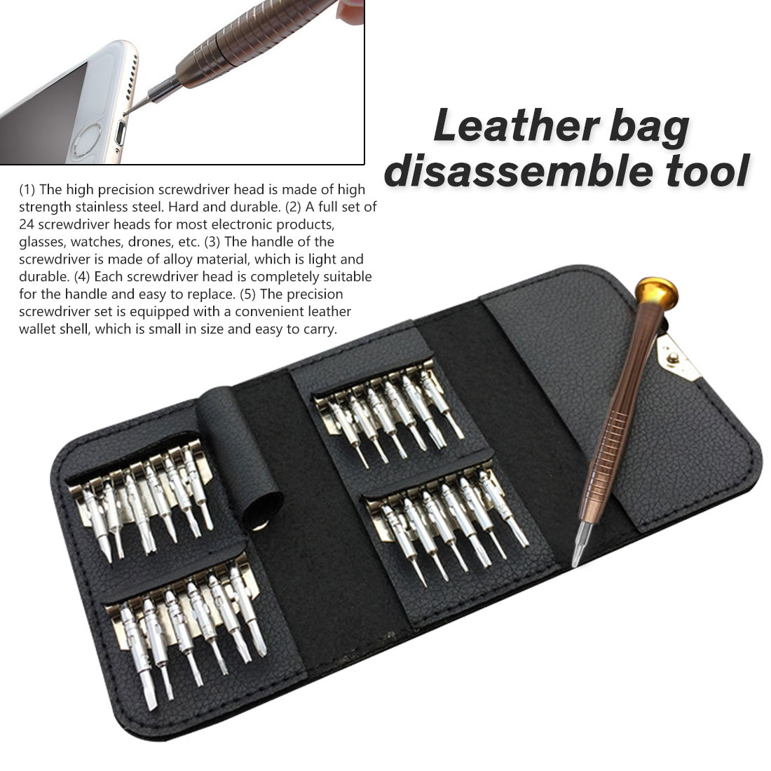 Vastar Screwdriver Set 25 In 1 Torx Multifunctional Opening Repair Tool Set Precision Screwdriver For Phones Tablet PC