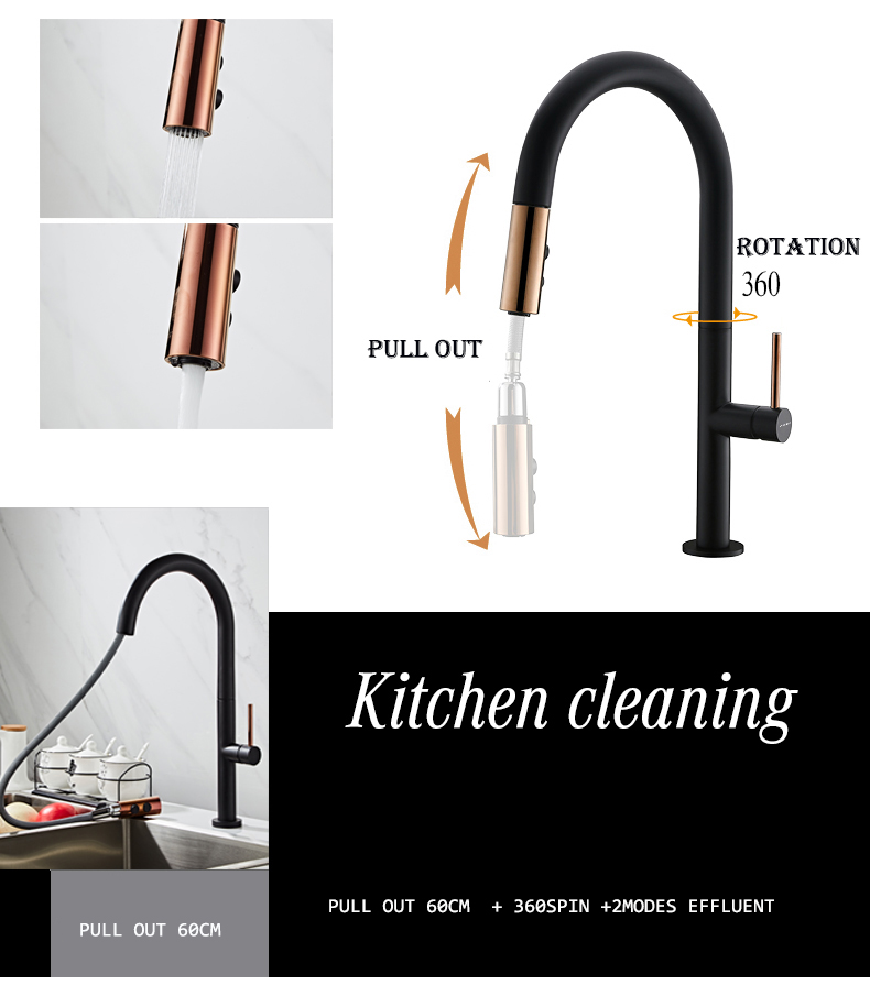 Hfd440b15300c4de2aefbb04fd281bf313 Newly Arrived Pull Out Kitchen Faucet Rose Gold and White Sink Mixer Tap 360 Degree Rotation Kitchen Mixer Taps Kitchen Tap