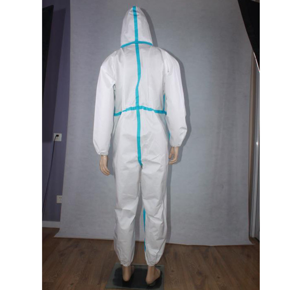 Disposable Overalls SMS Type Protective Clothing Work Jumpsuit Hooded Anti-Static Antibacterial Coverall Work Protection Clothes