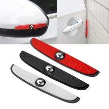 4 pçs tira de borracha anti-colisão porta do carro espelho retrovisor protetor adesivos para renault clio captur twingo scenic 2