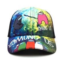 Новинка мода мужчины женщины бейсбол кепка хлопок мультфильм игра среди США лето солнце шляпа Snapback Ins Popular хип хоп кепки Gorras EP0207