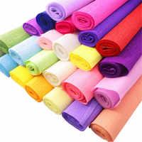 Papel crepé de colores hecho a mano para manualidades, papel decorativo para hacer papel rizado, cinta plegable de Origami, objetos artísticos para el hogar, álbum de recortes