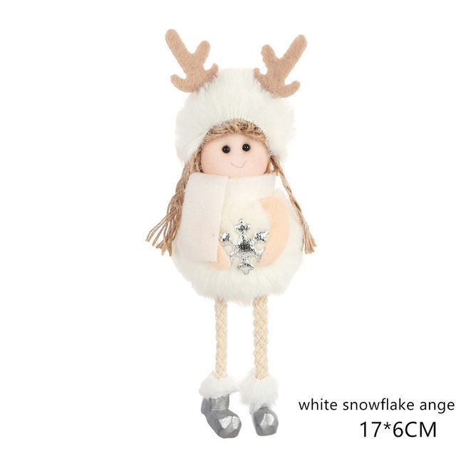 New Year 2020 Cute Santa Claus/Snowman/Angel Christmas Dolls Noel Christmas Tree Decoration for Home Xmas Navidad 2019 Kids Gift 178