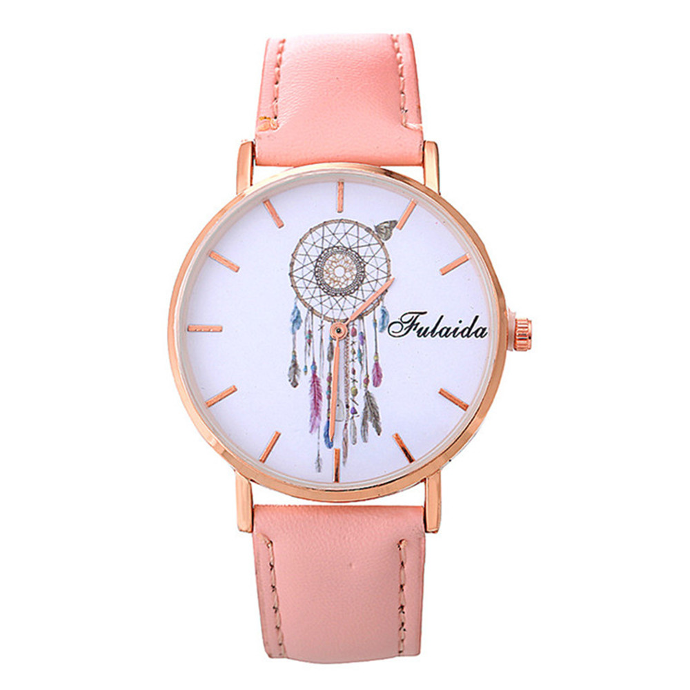 FULAIDA Quality Women's Watch Fashion Personality Dream Catcher Pattern Quartz Watch Fashion Watch