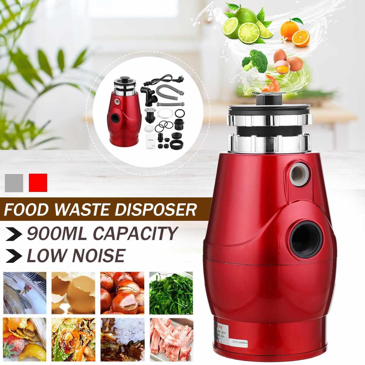 370 Вт Высокоплотный сплав для утилизации пищевых отходов 2600rmp Трехточечная петля для утилизации мусора непрерывная очистка мусора