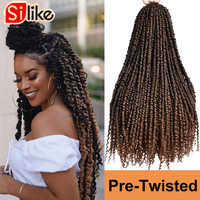 Silike 24 Inch Passion Twist Crochet Hair Pre-Twisted Synthetic Braiding Hair Extension Spring Bomb Twist For Black Women Bulk