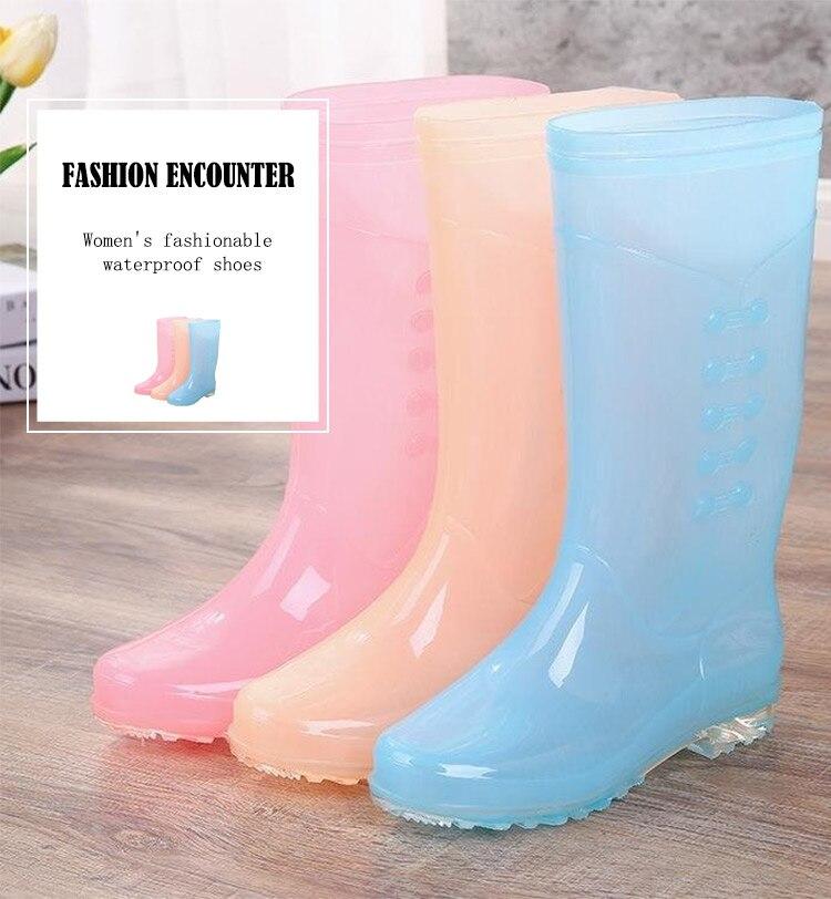 Женские высокие туфли с защитой от дождя Нескользящие утолщенные