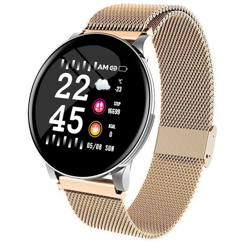 Luxury Smart Watch Men Blood Pressure Waterproof Rose Gold Smartwatch Women Heart Rate Fitness Tracker Watches Sport Android IOS image