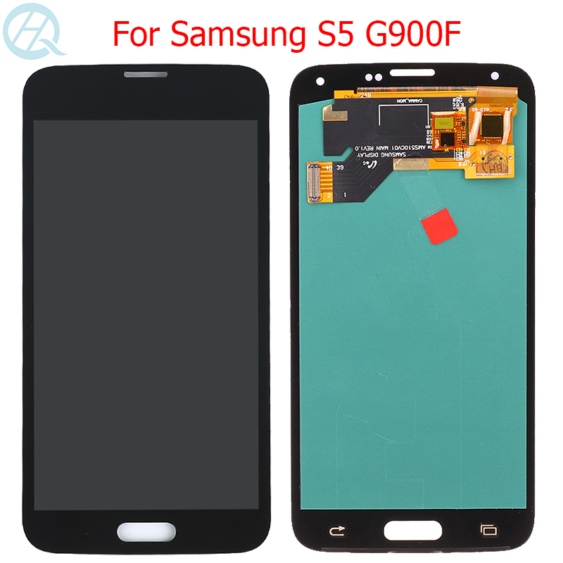 Original <font><b>Super</b></font> <font><b>AMOLED</b></font> LCD For <font><b>Samsung</b></font> Galaxy <font><b>S5</b></font> <font><b>Display</b></font> LCD 5.1