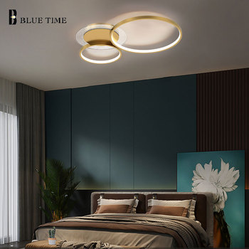 LED Chandelier For Living Room Dining Room Bedroom Circle Rings Decor Lights Ceiling Chandeliers Home Indoor Lighting Fixtures minimalist modern led chandeliers home ceiling chandeliers indoor lighting fixtures for bedroom dining room living room lamps