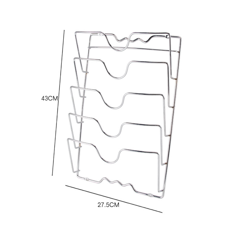 5 Layer Anti-fall Metal Drying Pan Pot Rack (3)