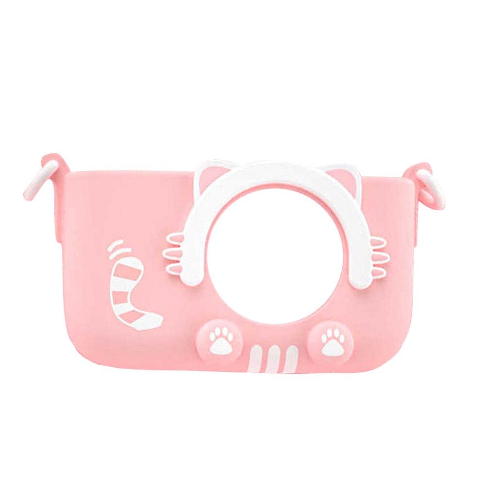 Caméra numérique enfants caméscope Mini vidéo avec coque en silicone cadeaux voyage Anti secousse haute définition jouets portables Selfie - 2