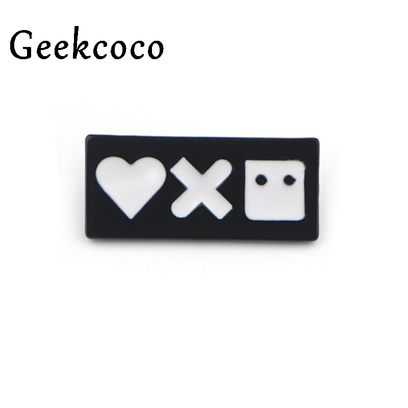 Love Death Robots vintage pattern Zinc alloy Pins for backpack Brooches for men women diy decoration Badges Gift Jewelry J0468 in Brooches from Jewelry Accessories