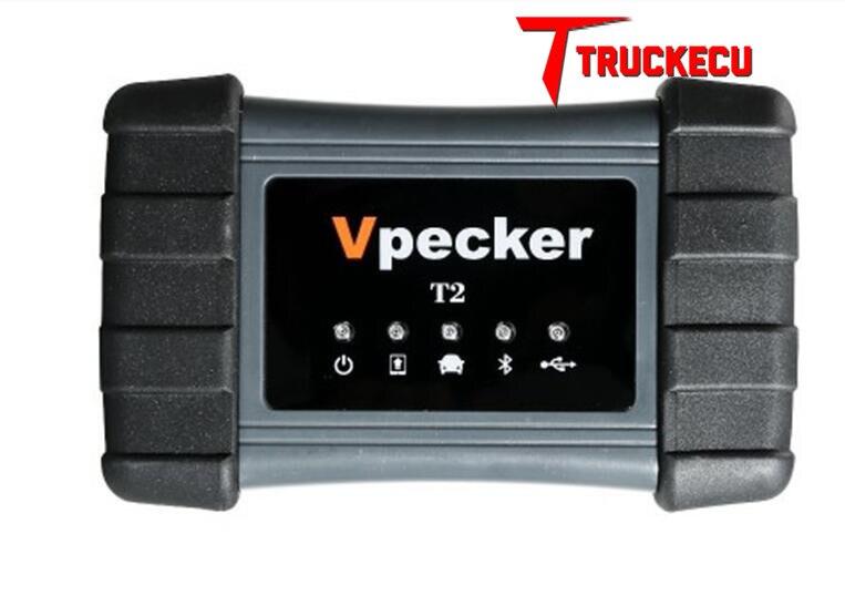 Vpecker XTUNER T2 + almohadilla camión de alta resistencia/vehículos comerciales herramienta de diagnóstico potente que Xtuner T1 OBDII escáner de diagnóstico automático - 2