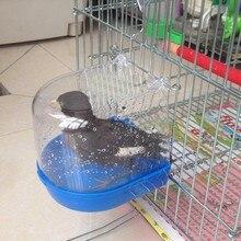Пластиковая ванночка для воды для домашних птиц Клетка для попугая подвесной аксессуар миска для ванны птицы Клетка для домашних птиц подвесная Ванна для душа птица