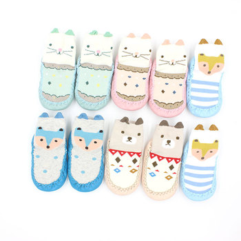 Infant First Walkers Cartoon Baby Non-slip Shoes Cotton Newborn Soft Sole Autumn Winter Toddler Floor Socks for