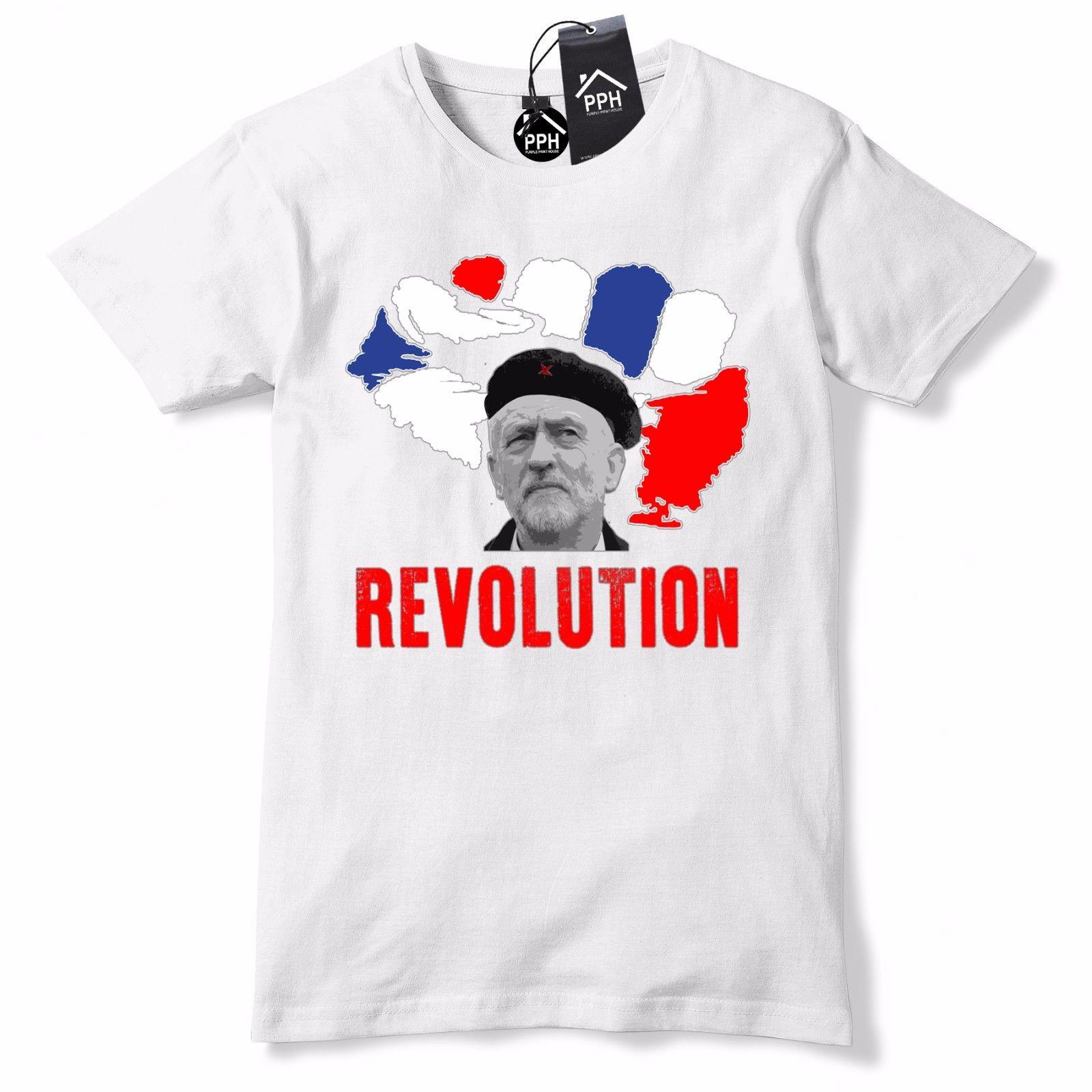 Revolution Jeremy Corbyn T Shirt UK Election Corbin Tshirt che guevara 596