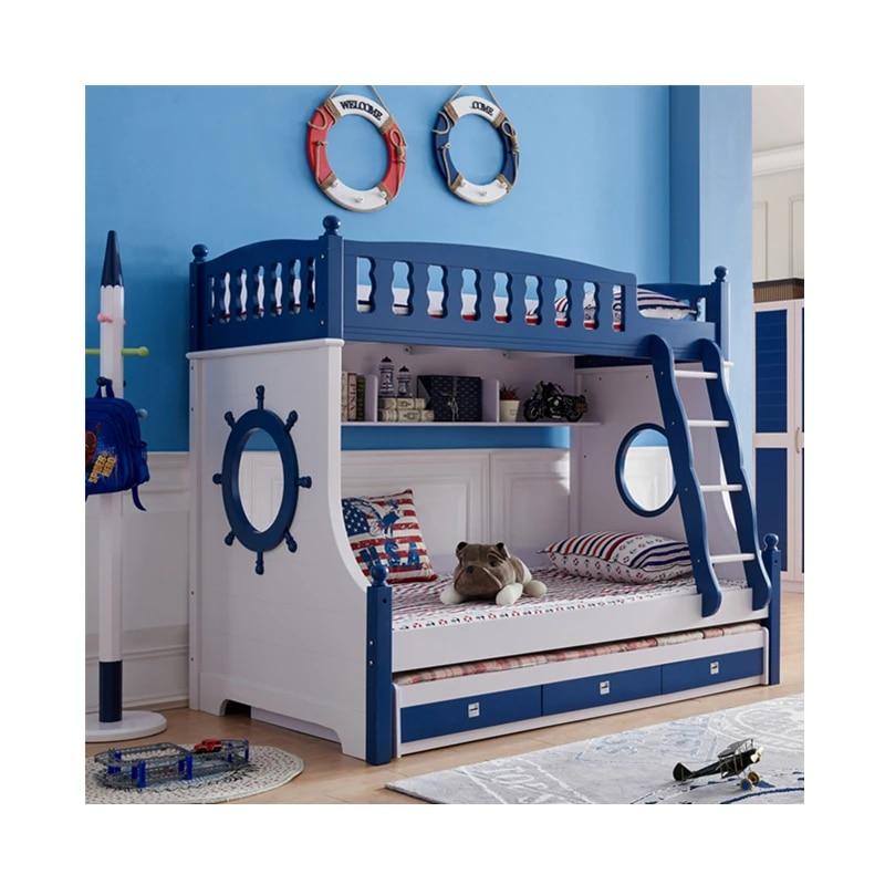 foshan moderne chene bois lits superposes enfants chambre meubles ensembles pour garcons et filles