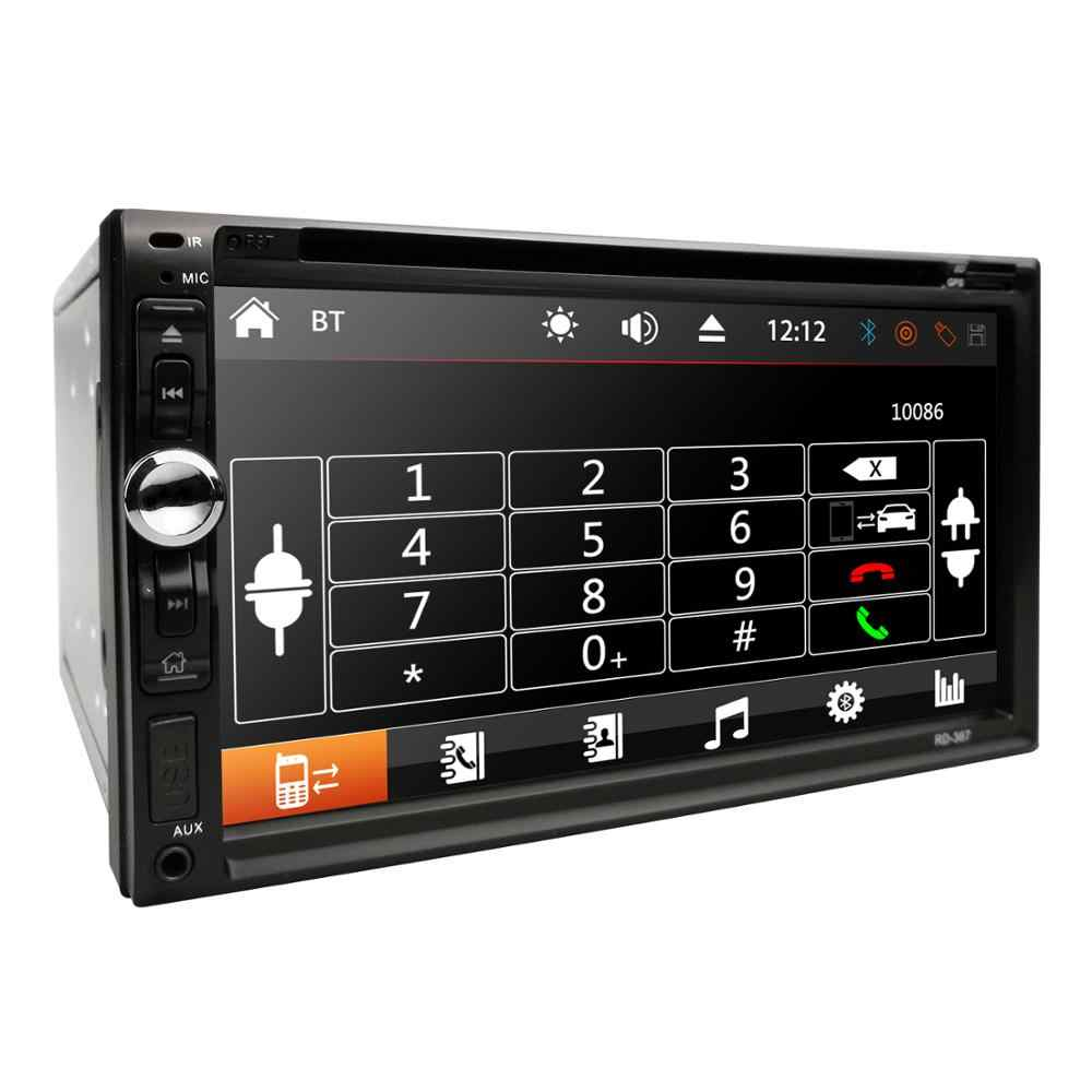 "Universele 2 Din 7 ""Touch Screen Auto Multimedia Speler Autoradio Autoradio MP5 MP3 Speler Usb Bluetooth Fm/Usb/Aux Spiegel Link"