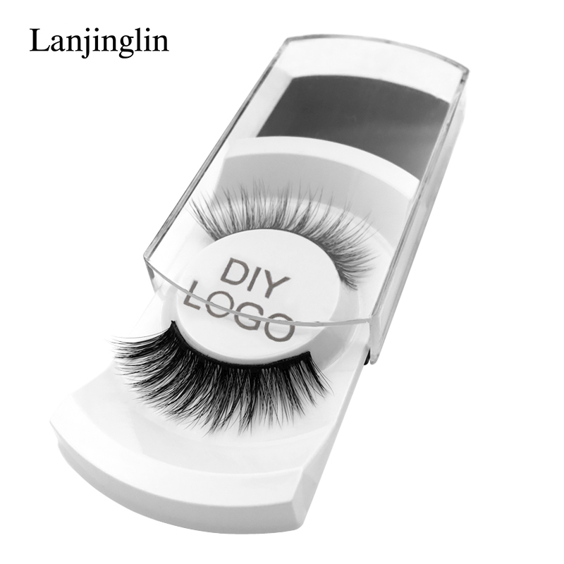 50 pairs natural false eyelashes DIY LOGO makeup fake eyelashes 3D mink lashes Eyelash wholesale supplier private label