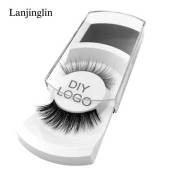 50 pairs natural false eyelashes DIY LOGO makeup fake eyelashes 3D mink lashes Eyelash wholesale supplier private label - DISCOUNT ITEM  40% OFF All Category