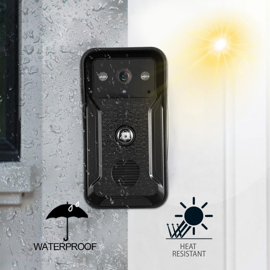 7in Wired Wifi 3 Monitors 1080P HD Video Doorbell Doorphone Night  Camera 100-240V door bell EU/US/UK/AU Plug