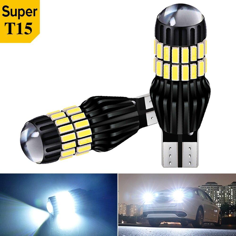 2X супер яркий T15 912 W16W WY16W 3030 светодиодный авто тормозные лампы Обратный лампы Автомобильные фары дневного света светильник поворотники 6000k