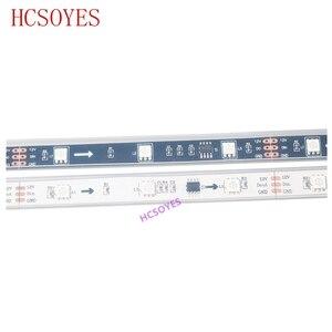 Image 5 - DC12V WS2811 1 メートル/3 メートル/5 メートル 30/48/60leds/メートル 5050 smd rgbスマートピクセルledストリップアドレス可能WS2811ICブラック/ホワイトpcb