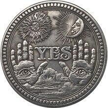 Hobo-dólar Morgan de EUA de níquel, copia de monedas