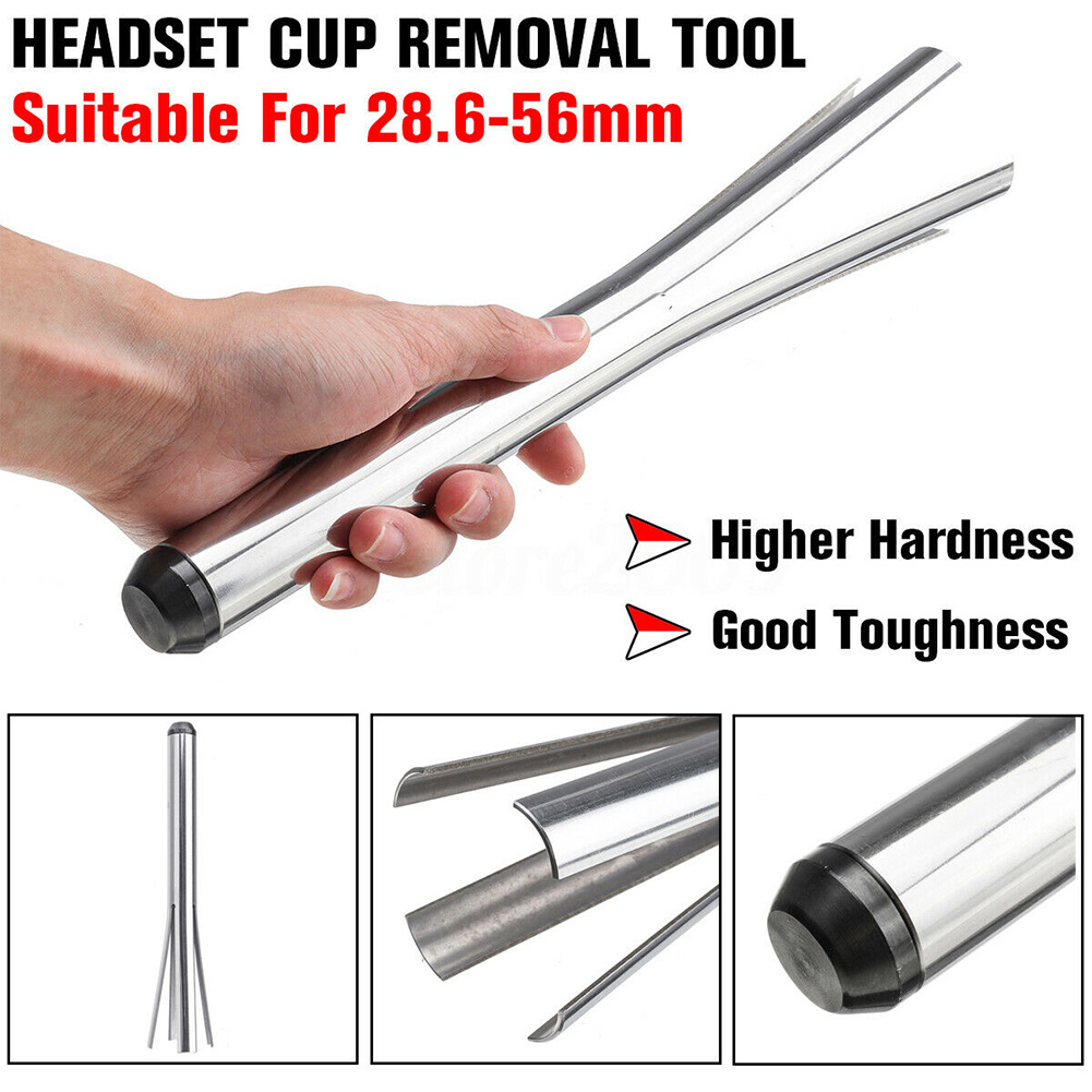 Practical Smooth Extractor Tool Headset Cup Repairing Portable Easy Operate Sturdy Bicycle Bowl Remover Outdoor Stainless Steel