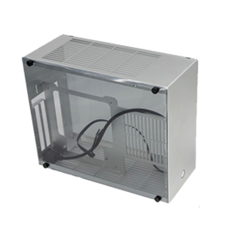 SGPC K99 A4 case i5 i7 i9 / 2060 2080Ti all aluminum water-cooled ITX gaming computer Chassis k99v2 M-ATX Long graphics card image