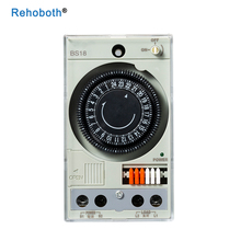 Built-in rechargeable battery 220V timer switch mechanical timer with 48 times on/off time setting scope 30 min on scope
