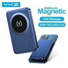 YKZ – batterie externe magnétique sans fil, 10000mAh, pour iPhone 12 Pro Max PD 20W 15W