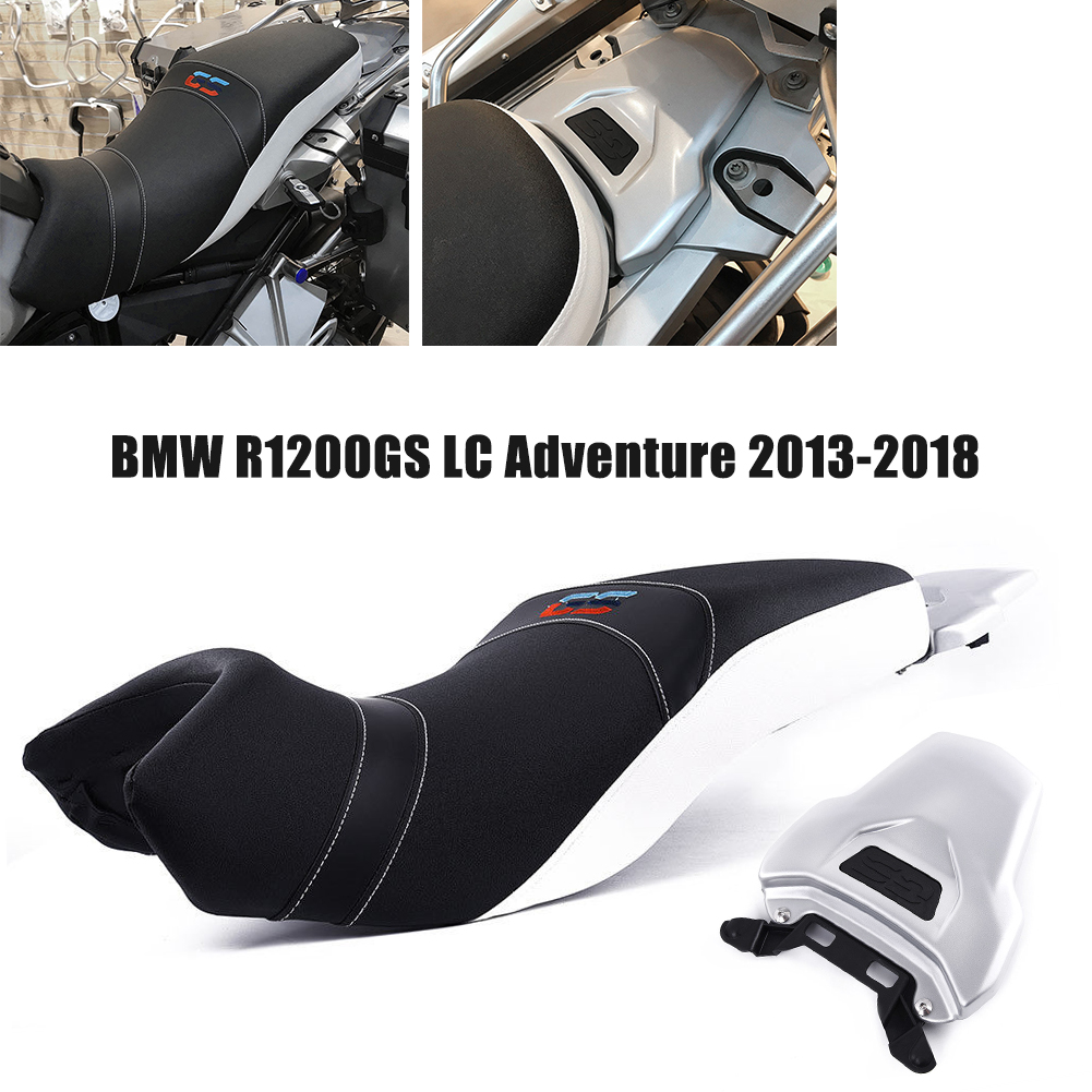 For BMW R1200GS 2013-2018 R 1200GS LC Adventure Adv 2014-2016 Lower Comfort Driver Rider Passenger Seat Cover Dual Sport Fairing